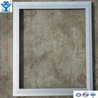 Quality Silver anodized matt extruded aluminum LED panel frame for sale