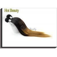 Quality Peruvain Silk Straight Colored Human Hair Extensions No Shedding SGS BV for sale