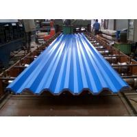 Quality Blue Powder Coated Corrugated Steel Roofing Sheets Used For Roofing Wall for sale