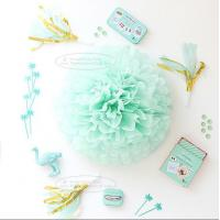 Quality Paper Flower Balls Tissue Paper Pom Poms For  Birthday/Wedding/Party Decorations for sale