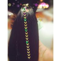 Quality Best Metallic Flash Hair Tattoo for Ponytail for sale