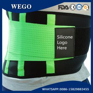 Quality WG-LS004 Green NeopreneAdjustable GreenWaist Trimmer Belt Body Shaper Back Brace for sale