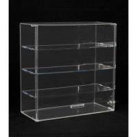 Quality acrylic straight front case locking acrylic display case with 3 tiers for sale