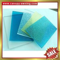 Quality high quality solid polycarbonate roofing PC sheet sheeting for building and greenhouse project for sale