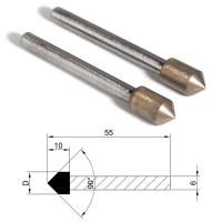 Quality Metal Bond Diamond Grinding Points Bullets Shape Head For Glass Ceramic Agate for sale