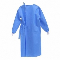 China Non Irritating 100gsm CPE Non Woven Isolation Gown on sale