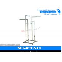 China Metal Shop Display Fittings / Commercial Grade Garment Rack For Clothes Hanging on sale