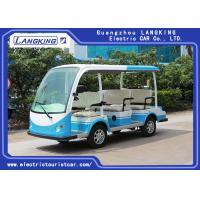 Quality CE Approved Open Top Electric Shuttle Vehicles / 48V DC System 8 Passenger 4 Wheel Electric Mini Bus for sale