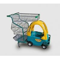 Quality Children Metal Kids Shopping Carts Supermarket  Plastic Push Trolley With Toy Car for sale