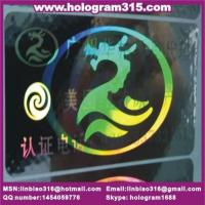 China dot matrix hologram label on sale