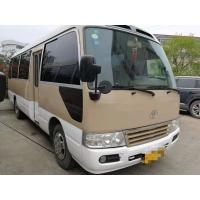 Quality 1HZ Diesel Engine Toyota Used Coaster Bus 30 Seats Manual Gear Box With AC for sale