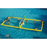 Quality Funny Commercial Inflatable Aqua Park Inflatable Volleyball Court For Water for sale