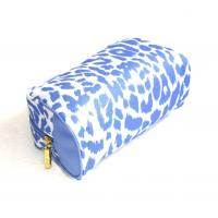 Quality Full-printed-blue-polyester-cosmetic-bag-makeup bag for sale