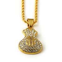 China 18k real gold fashion dollar pendant gold necklace on sale