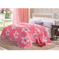 China Super micro mink home fleece bedding set cover with polka dots daisy style on sale