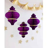 Quality Purple handmade paper christmas ornaments paper honeycomb custom for sale