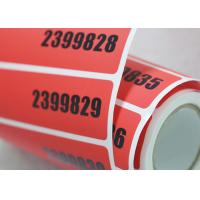 Quality Void Self Adhesive Tamper Evident Security Labels With Hot Stamping Hologram for sale
