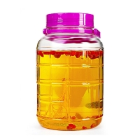 China Drinking Beverage Dispenser 1 Gallon Airtight Glass Jar on sale