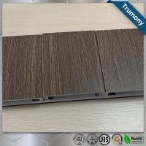 Quality ECO Friendly Wood Grain Aluminum Composite Panel , Composite Metal Panel Exterior Wall Decoration for sale