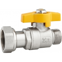Quality 5801C Gas Stove Valve Brass Ball Valve Straight Type DN15 for Residential Gas Supply with Flexible Female Threaded Nut for sale