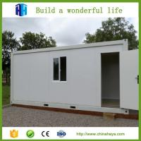 China Hurricane proof prefab 20ft 40 ft container office building steel house design on sale