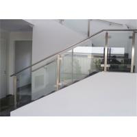Buy Top Mount Stainless And Glass Balustrade , Staircase Steel Railing  Designs With Glass At Wholesale ...