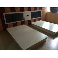 Modern Hotel Room Furnishings Small Wooden Double Bed With Night Stand