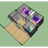 Quality Wind-Resistant Living 20ft Container House With Foldable Mobile Home for sale