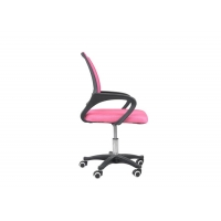 Quality 22.6 Pounds Peach Office Mesh Swivel Task Chair With Arms for sale