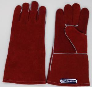 14 inch Split Leather Safety Welding Gloves Working Gloves