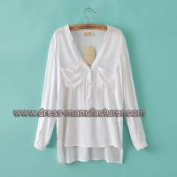 Quality Wholesale v neck long sleeve cotton shirt for women for sale