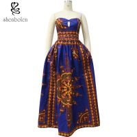 Quality 100% Cotton Big Size African Print Skirts And Dresses , African Couture Dresses for sale