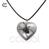 Quality Spider Pendants Jewelry in Sterling Silver, Engraved Jewelry Box for sale