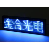 Quality Blue Electronical Smart Programmable LED Name Badge With Pin / Magnet for sale