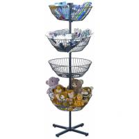 Quality Spinning 4 Baskets  Floor Display Rack for sale