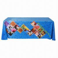 Buy cheap Large format table wrap banner, with polyester fabric, used in expo, speech from wholesalers