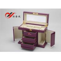 China Fashionable Wooden Jewellery Box 3 Drawers 4 Layers Wooden Jewelry Case on sale