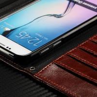 Envelop Style Samsung Leather Wallet Case For Galaxy S7 Litchi Drop Protection