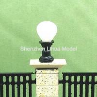 China 1:150scale lawn light, scale miniature lamp post,architectural model lights,fake ground lamp pole ,building lights on sale