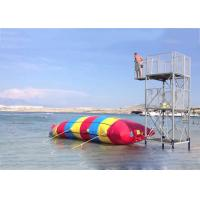 Inflatable Water Pillow , Inflatable Rainbow Water Blob For Water Sports