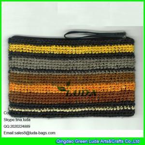 3441bb0690 ... crochet shopper bag. Contact Supplier. Quality LUDA colorful summer straw  handbag zipper closure raffia straw clutch handbag for sale