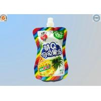 Quality Small Food Grade Plastic Bags , Stand Up Spout Pouch For Liquid / Particle Product for sale