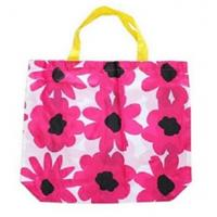Quality nylon shopping tote bag with beautiful printing for sale