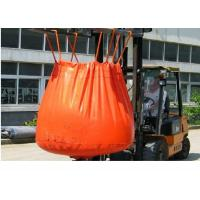 Quality Waterproof Orange PVC Recycled Jumbo Bag Storing Hazardous And Corrosive Products for sale