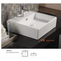 Quality Roca model Trend brand square coutertop bathroom sink white color wall mounted hand wash basin for sale