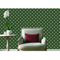 Quality Embossed Pvc Contemporary Wall Coverings , Four Leaf Home Floral Wallpaper For Walls for sale
