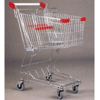 Quality Mini Steel Mesh Supermarket Shopping Cart Zinc Plated 60 Litres for sale