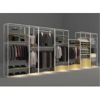 Quality Shopping Mall Cloth Display Showcase / Clothes Storage Rack Metal Fireproof for sale