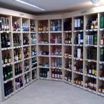Quality acrylic wine display for sale