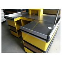 Buy Cosmetic Shop Counter / Supermarket Retail Checkout Counter With Stop Bar at wholesale prices